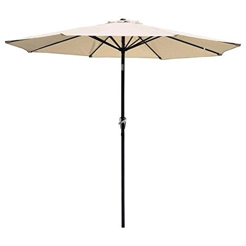 9Ft Outdoor Patio Furniture Umbrella Taupe Polyester
