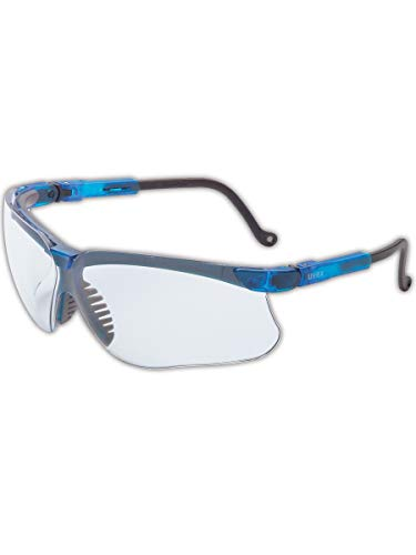 Uvex S3240 Genesis Series Safety Glass with Blue Frame, Capa