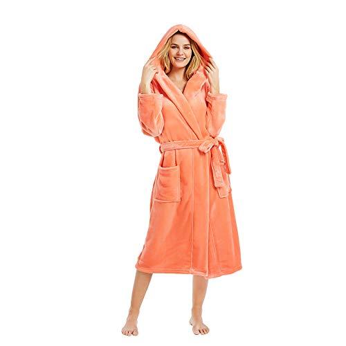 M&M Mymoon Womens Hooded Fleece Robes Plush Comfy Soft Warm