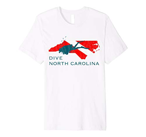 North Carolina Scuba Diver Shirt Diving Ocean Snorkel Gift