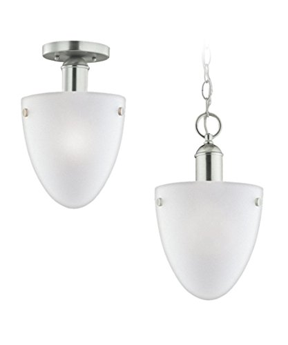 Light One 962 Metropolis (Sea Gull Metropolis Hanging/Ceiling Light - 8.5W in. Brushed Nickel)