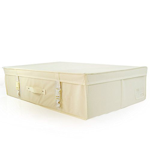 HANGERWORLD Large Ivory Wedding Dress Bridal Gown Garment Storage Box and Travel Carry Case