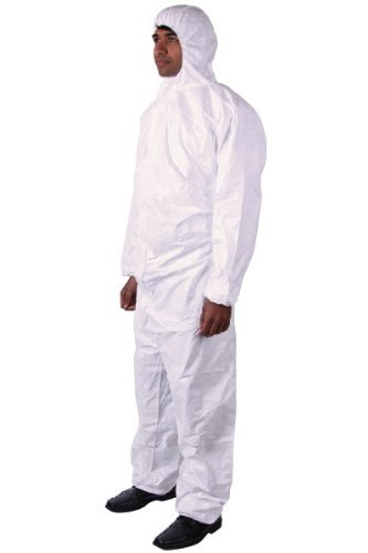 Wrists Ankles Hood - Tyvek Disposable Suit by Dupont with Elastic Wrists, Ankles and Hood (4XL)