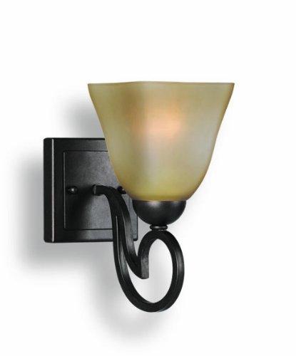 Bordeaux Bath Sconce (Woodbridge Lighting 53101-BOR Palermo 1-Light Bath Sconce, Bordeaux)