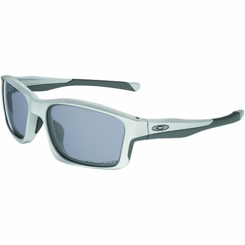 Oakley Mens Chailink OO9247-07 Polarized Ractangular Eyeglasses, Matte White, 57 mm
