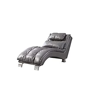 Coaster Dilleston Contemporary Chaise Lounge in Gray