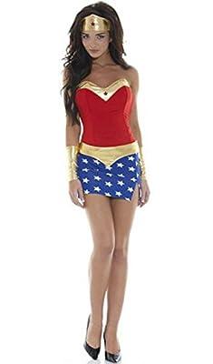 HPLY Women's DC Comics Super Heroes Wonder Woman Female superhero Dress