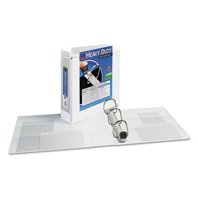 Extra-Wide Heavy-Duty View Binder with One Touch EZD Rings, 3'' Capacity, White