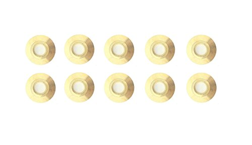 10 Pack Brass Anchor Collar Flange For Swimming Pool Cover Deck Anchors