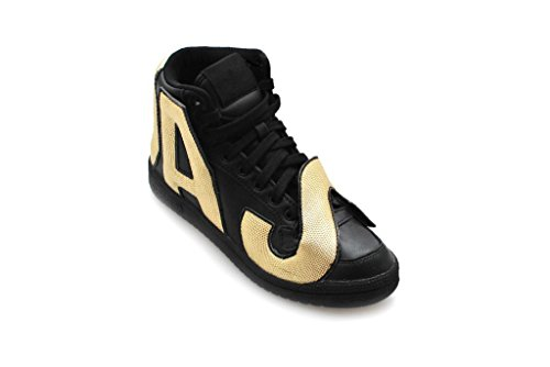 Js Sneakers Gold Unisex Originals Scarpe Letters Pelle Per Nero Moda Adidas Xwq5fCPtxx