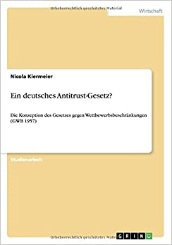 Book Ein deutsches Antitrust-Gesetz?