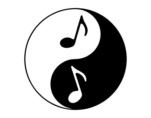 (Yin Yang Symbol With Music Notes - 4