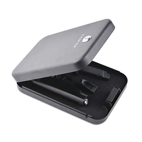BAGKOOL Pistol Safe Portable Metal Travel Gun Safe Handgun Lock Security Box Case with Key Lock