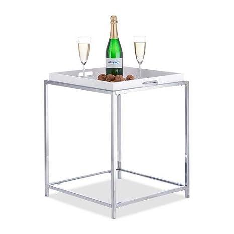 Tavolino Con Vassoio.Relaxdays Tavolino Con Vassoio Rimovibile Tavolinetto