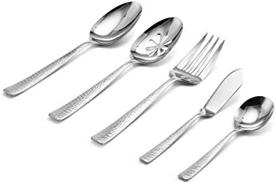 Mikasa QUICK, SIMPLE CLEANUP dishwasher safe 65-Piece 18/10 Stainless Steel Flatware Set with Serveware, Service for 12