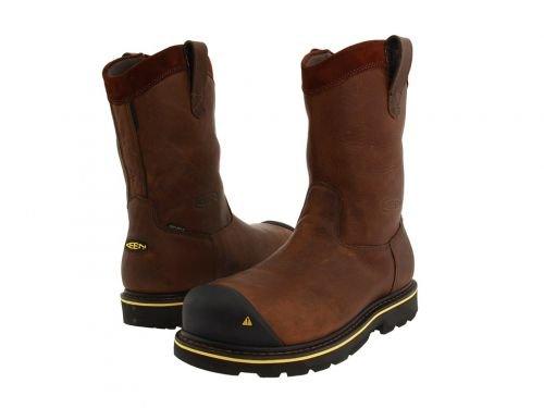 Keen Utility(キーン) メンズ 男性用 シューズ 靴 ブーツ 安全靴 ワーカーブーツ Dallas Wellington Dark Brown [並行輸入品] B07BMDMVDR 11 D Medium