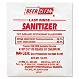 ** Beer Clean Last Rinse Glass Sanitizer, Powder, .25oz Packet, 100/Carton