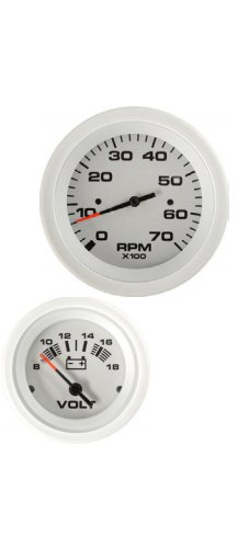 2 Engine Twin (Sierra International 69723P Arctic Twin Engine Add On OB 2 Gauge Set Includes Tachometer & Voltmeter)