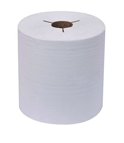 Wausau Paper Tork 80 - 31400 EcoSoft Controlled Paper Towel Roll, Natural White, 6 Rolls per Case by Wausau