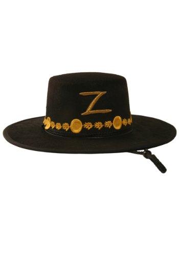 Deluxe Adult Zorro Costumes (Rubie's Costume Co Men's Zorro Deluxe Hat, Black, One Size)