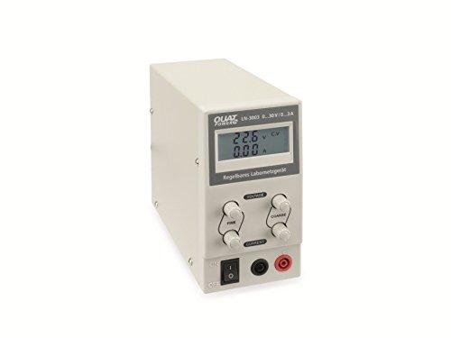 QuatPower Regelbares und stabilisiertes Labornetzgerät LN-3003, Ausgangsspannung von 0.30 V-,0.3 A Strombegrenzung, Grob- und Feinregler, übersichtliches LC-Display, Netzschalter product image