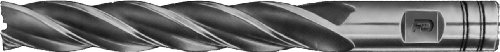 "F&D Tool Company 18381-F908 Multiple Flute End Mill, Single End, Extra Long, High Speed Steel, 1/4"" Mill Diameter, 3/8"" Shank Diameter, 1.75"" Flute Length, 3.5"" Overall Length, 4 Number of Flutes from F&D Tool Company"