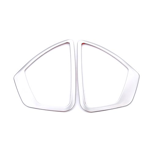 HIGH FLYING Stainless Front Door Inner Speaker Sticker Cover Trim 2pcs For BMW 1 Series F20 F21 2012-2017 For BMW 2 Series Coupe F22 2014-2017