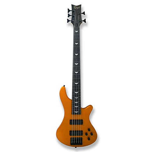 5 String Fretless Electric Bass Bolt_On Maple Neck,Poplar Body Sunburst