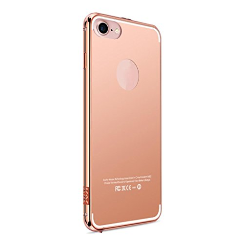 Price comparison product image iPhone 7 Case, [4.7 inch]LUNIWEI Aluminum Ultra-thin Mirror Metal Case Cover Skin