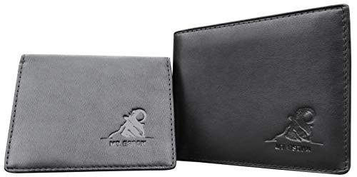 Mt. Eston RFID Blocking Mens Wallet with Removable ID Holder Card Case 17 Pocket