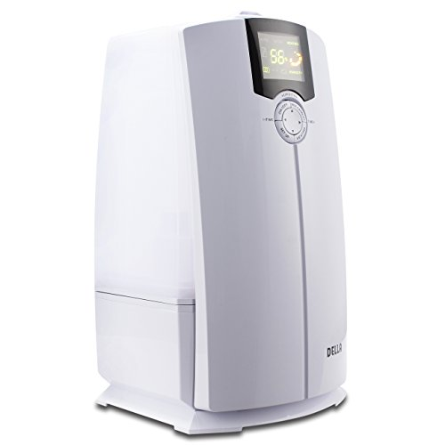 DELLA Warm and Cool Mist Ultrasonic Humidifiers for Bedroom with 4L LED Display, Air Filter, Low Water Protection by DELLA