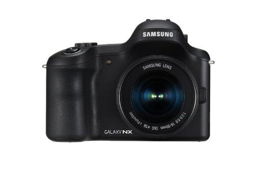 Samsung Galaxy NX EK-GN120ZKAXAR Galaxy Wireless Smart Android 4G Camera 20.3MP Mirrorless Digital Camera with 4.8-Inch LCD with 18-55mm OIS Lens (Black) (Camera Nx Samsung Mirrorless)