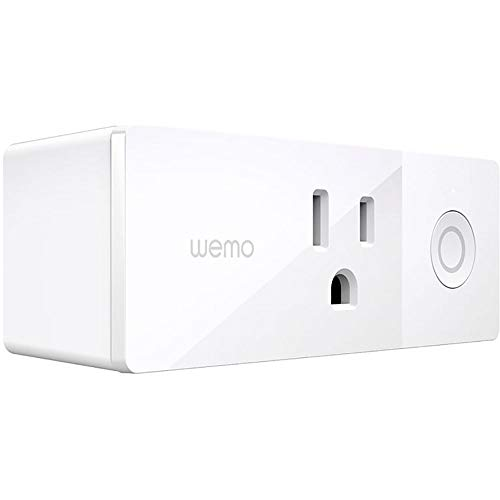 (Wemo Mini Smart Plug, WiFi Enabled, Works with Alexa, Google Assistant & Apple HomeKit)