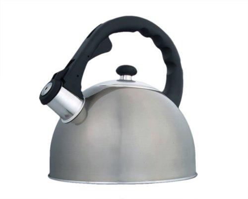 Creative Home Satin Splendor Metallic 2.8 Quart Whistling Te