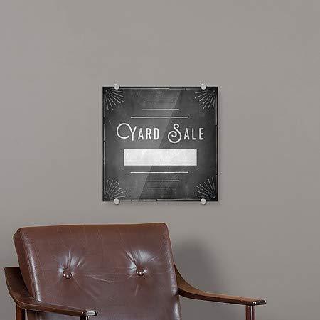 Yard Sale CGSignLab 5-Pack 16x16 Chalk Corner Premium Brushed Aluminum Sign