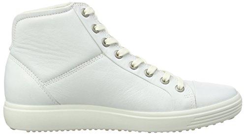 7 de Altas Soft Mujer Blanco Ecco Deportivas Cuero Zapatillas Ecco White1007 Ladies Ex0q6w4O1