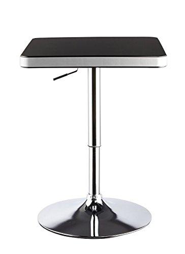 Duhome DH0181 Table haute//mange-debout à hauteur réglable Noir//argenté Duhome Elegant Lifestyle®