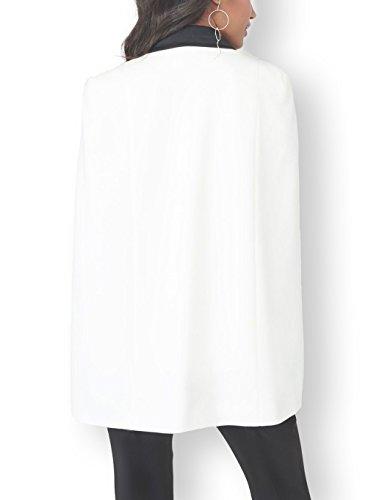 Button Slim Donna Grazioso Con Party Tailleur Ufficio Primaverile Eleganti Autunno Bavero Cocktail Per Fit Bianca Poncho Blazer Business Giacca Da Capa Notte Moda Stlie La Giovane Giacche nIZcz8qd