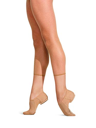 Capezio Crop Studio Fishnet Tight - Size Large/X-Large, Caramel