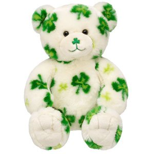 Build-A-Bear Lucky Fur You Limited Edition LE Shamrock Teddy Bear
