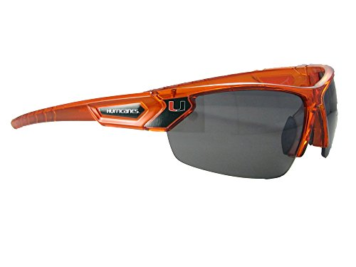 Miami Hurricanes UM Orange Transparent Sunglasses - Sunglass Miami