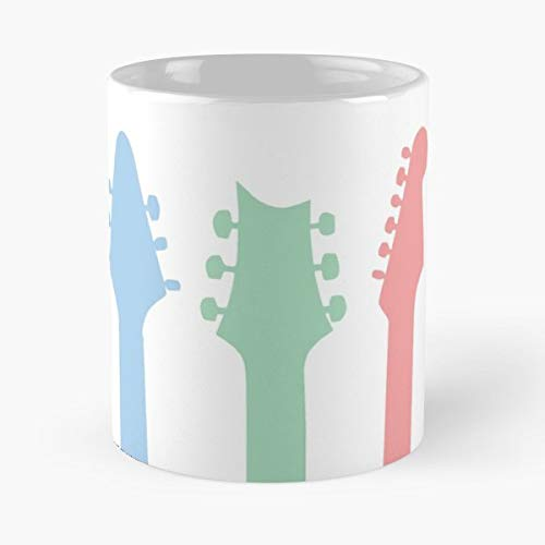 - Guitar Head Music Instrument - White -coffee Mug- Unique Birthday Gift-the Best Gift For Holidays- 11 Oz.