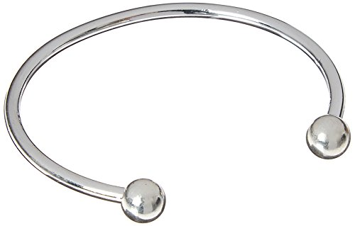 - Darice Sterling Silver Plated Twist End Bangle, Set of 3