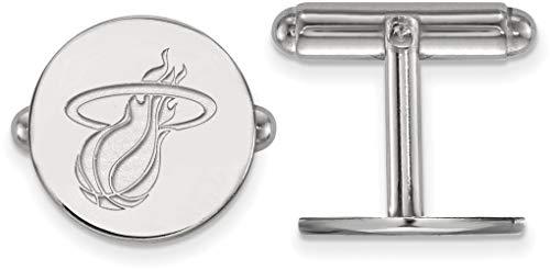 (Sterling Silver NBA Miami Heat Cuff Links by LogoArt)