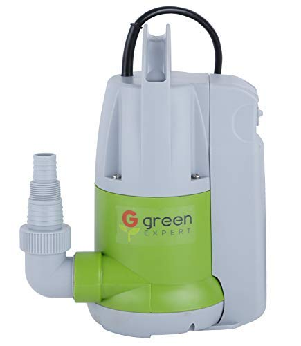 Green Expert 203623 1/3HP Thermoplastic Portable Electric Water Removal Pump with Unique Switchable Built-in Switch Auto/Manual Modes for Multipurpose Water Transfer Basement Ponding