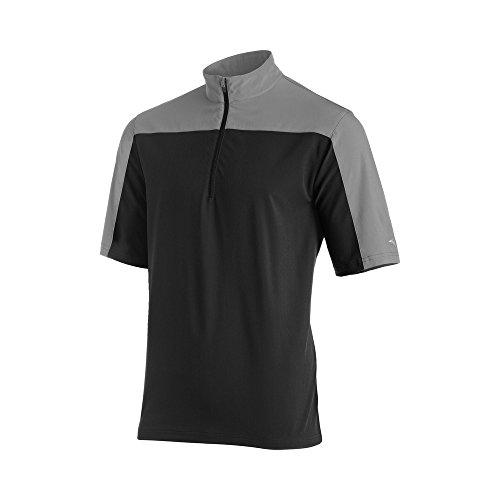 Mizuno Comp Short sleeve Batting Jacket, Black/Grey, 3X-Large