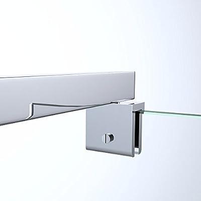 Sogood Barra de sujeción para mamparas de duchas diseño BRAM2 |Forma cuadrada, estabilizador para vidrio variable 80-120cm: Amazon.es: Bricolaje y herramientas