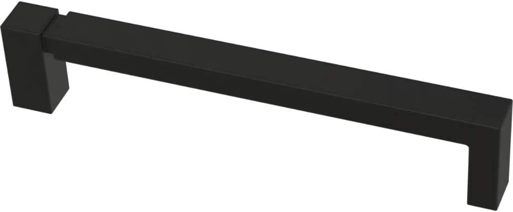 Franklin Brass P40824K-FB-C Asymmetric Notched Kitchen or Furniture Cabinet Hardware Drawer Handle Pull, 5-1/16-Inch (128mm), Flat Black, 10-Pack