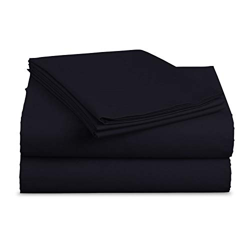 Luxe Bedding Sets - Microfiber King Size Sheets Set 4 Piece, Pillow Cases, Deep Pocket Fitted Sheet, Flat Sheet Set King - Navy Blue (Difference Between Bed Linen And Bed Sheet)