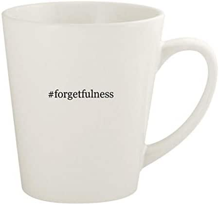 #forgetfulness - 12oz Hashtag Ceramic Latte Coffee Mug Cup, White